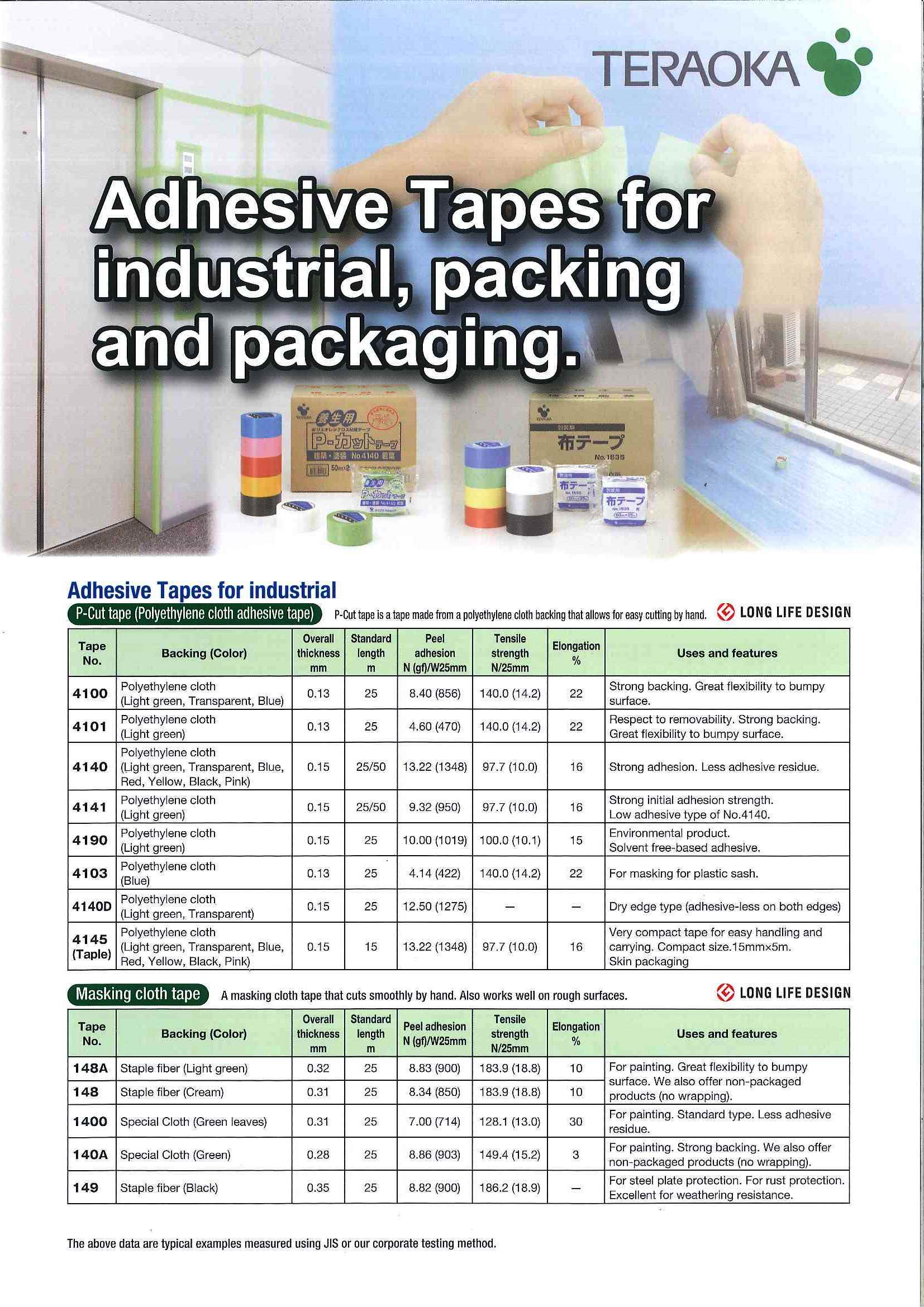 Adhesive Tapes for industrial, packing and packaging Catalog
